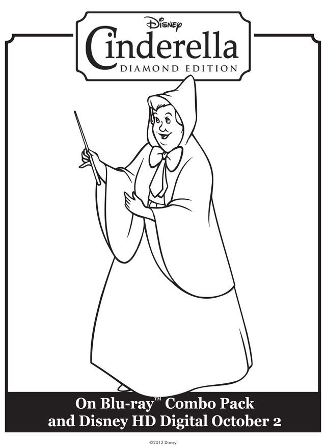 Character Coloring and Activity pages Fairy Godmother