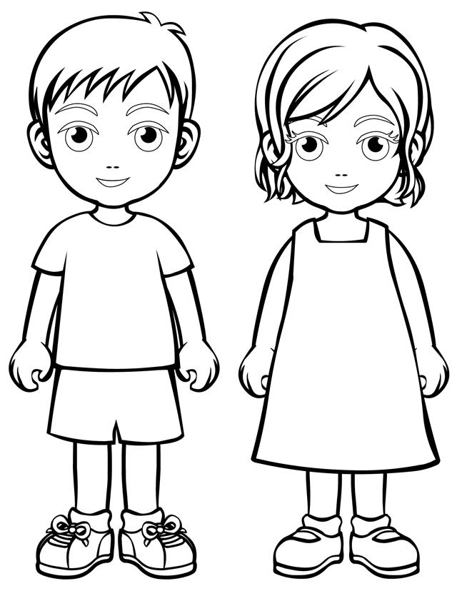 people coloring pages for kids - photo#1