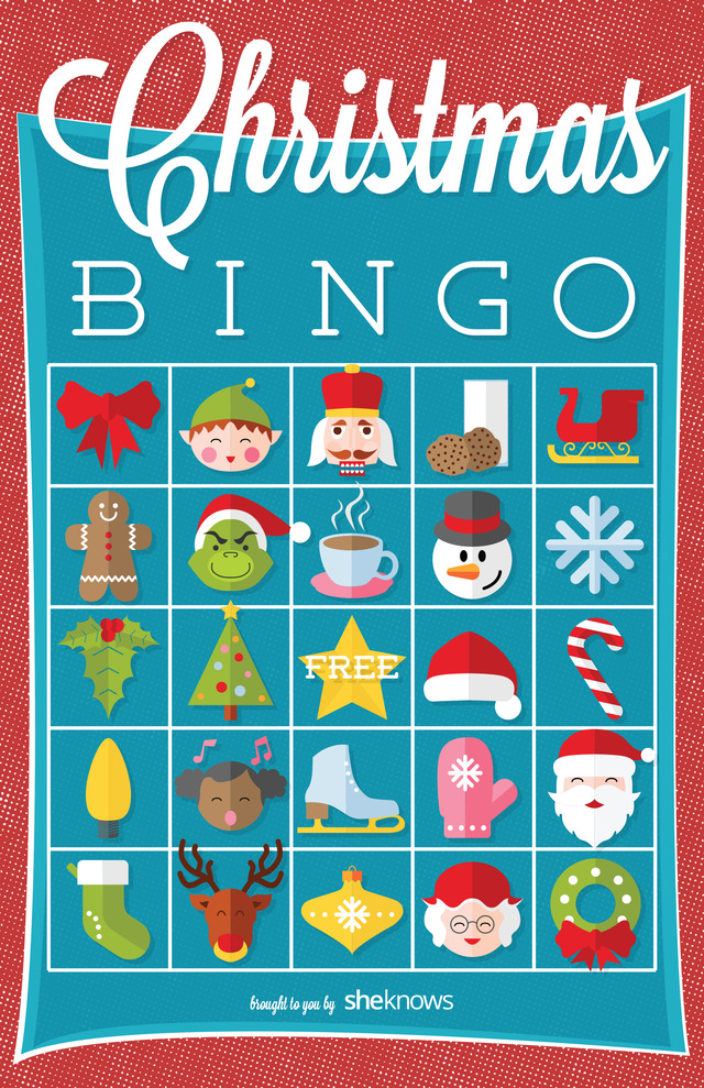 Christmas I Spy Bingo Version 2 Free Printable Coloring