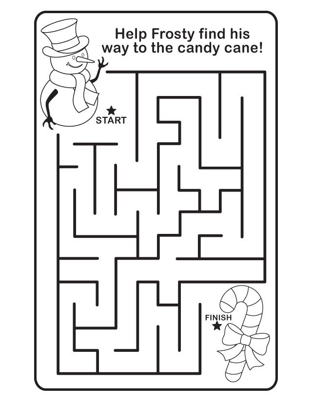christmas coloring pages and mazes - photo#3