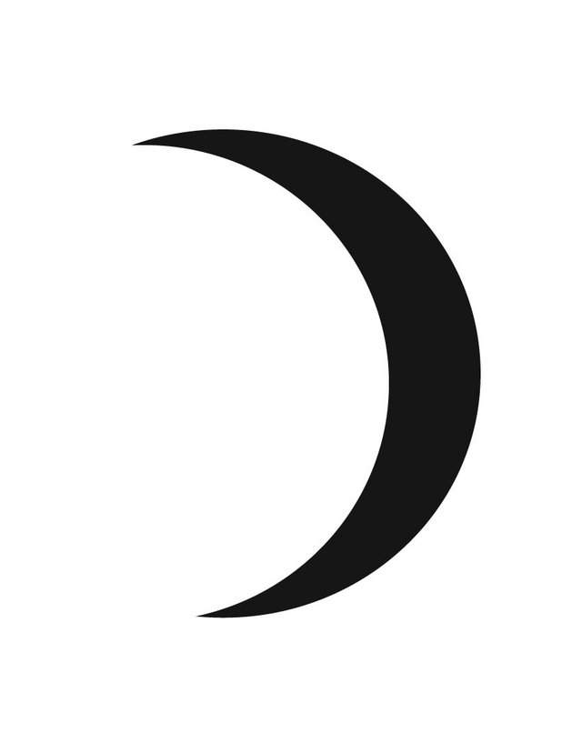 Crescent Moon - Free Printable Coloring Pages