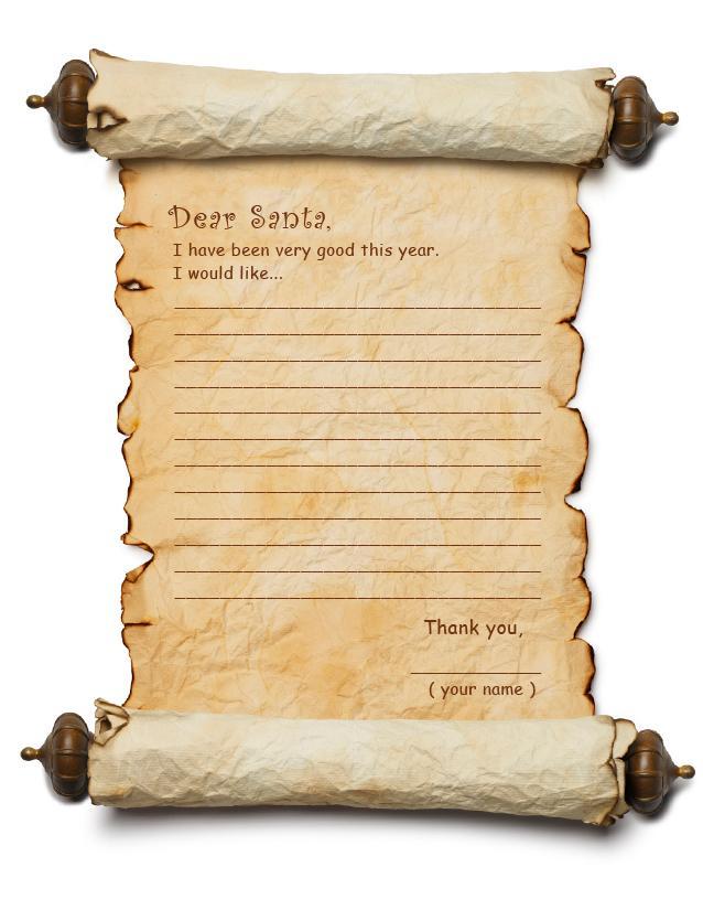 santa list template printable santa stationary free dear kids – Santa List Template Printable