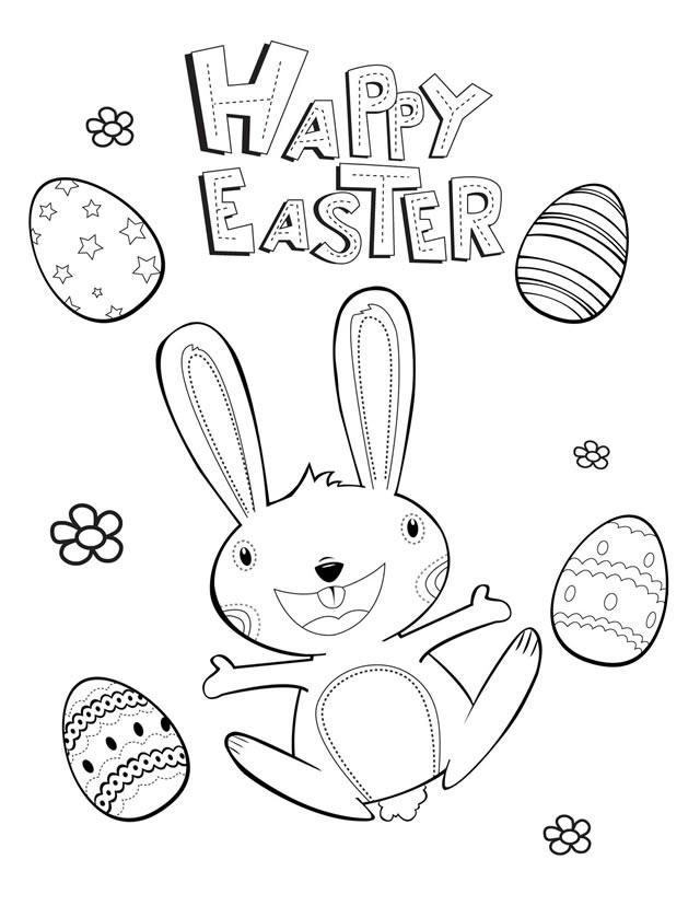 Easter coloring pages games ~ Easter coloring pages: Happy Easter