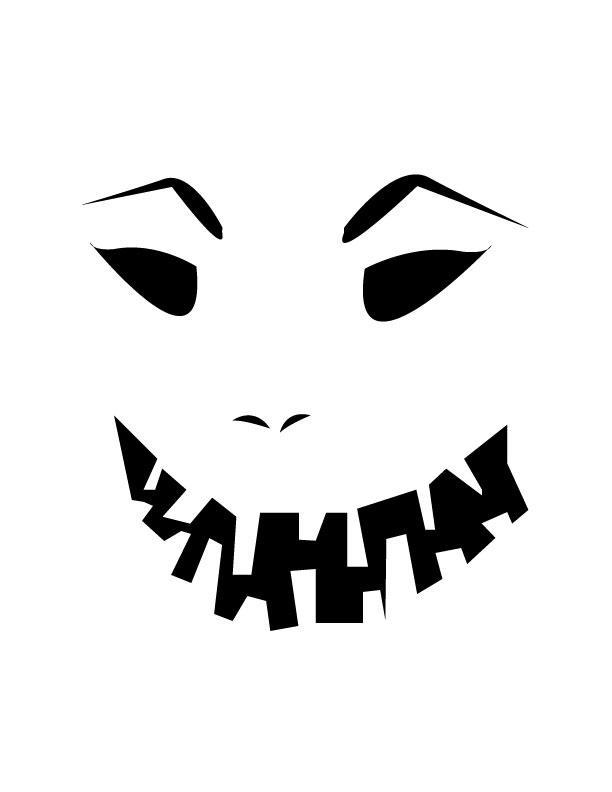 Evil face free printable coloring pages for Evil face pumpkin template