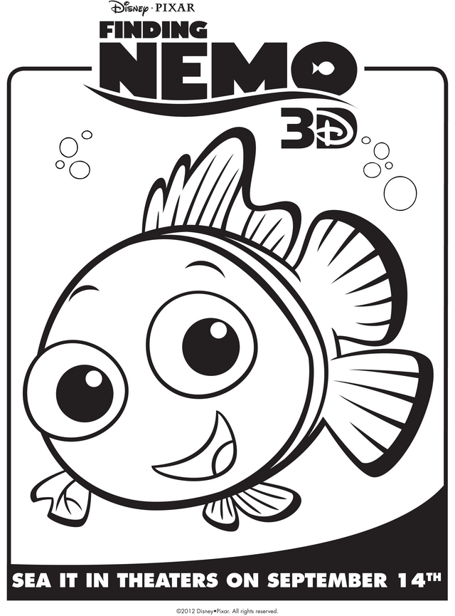 Character Coloring And Activity Pages Finding Nemo