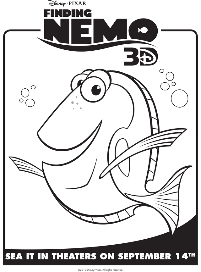 finding nemo characters coloring pages crush image information - Crush Finding Nemo Coloring Pages