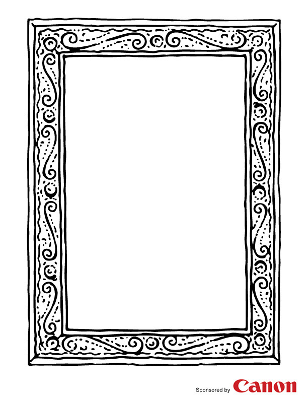 free picture frame coloring pages - photo#5