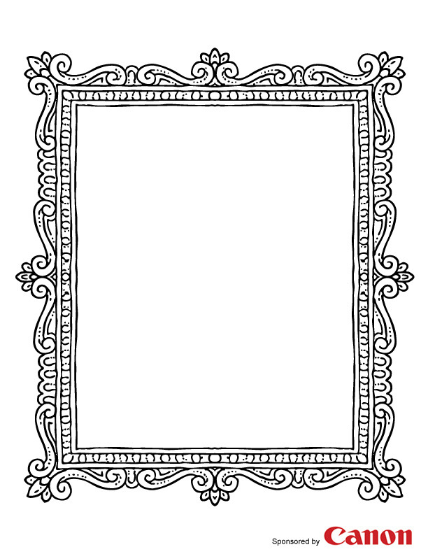 Nifty image throughout picture frame printable