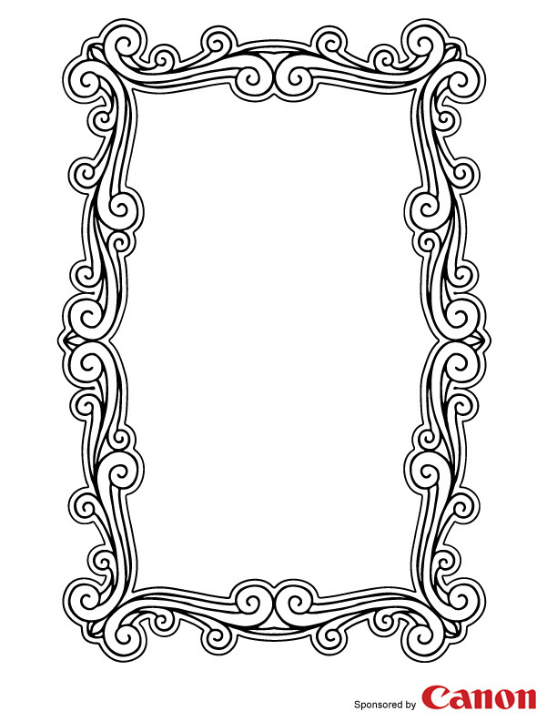 free picture frame coloring pages - photo#13