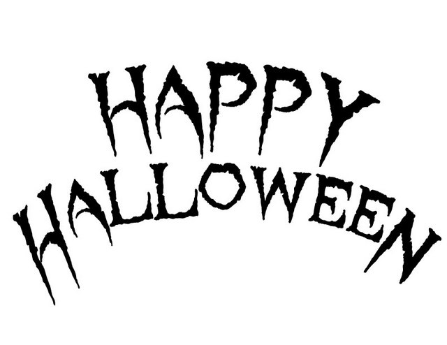 Halloween Alphabet Coloring Pages : Happy halloween free printable coloring pages