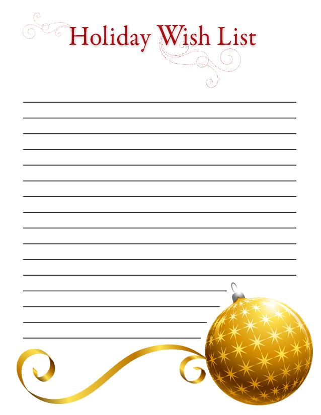 Printable Santa List Templates