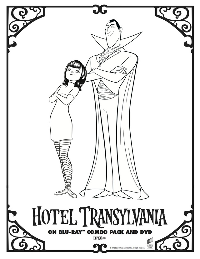 character coloring and activity pages hotel transylvania s Winter Clip Art Menorah Clip Art
