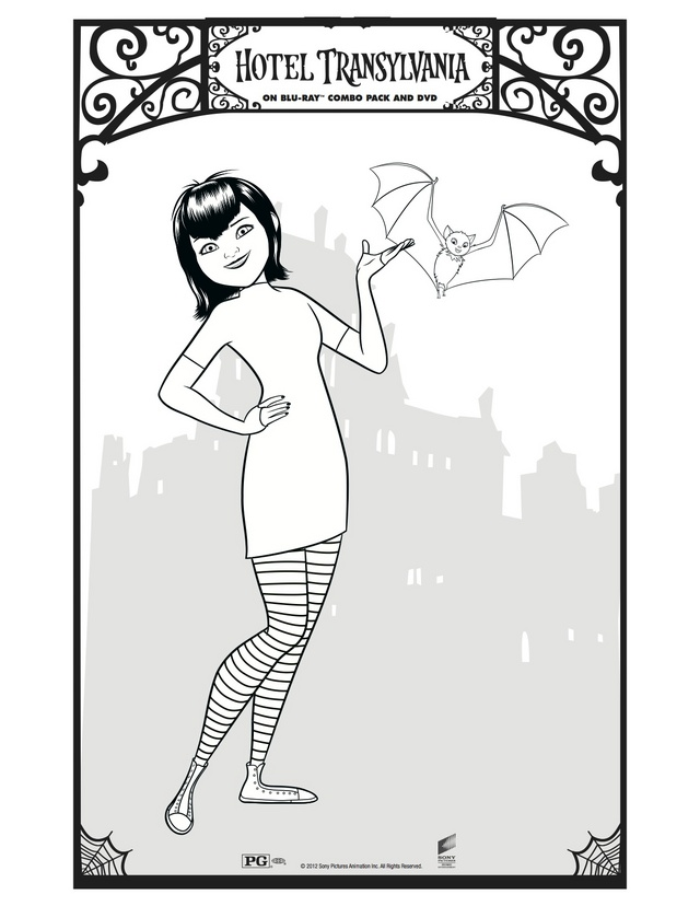 print hotel transylvania coloring pages - photo#9
