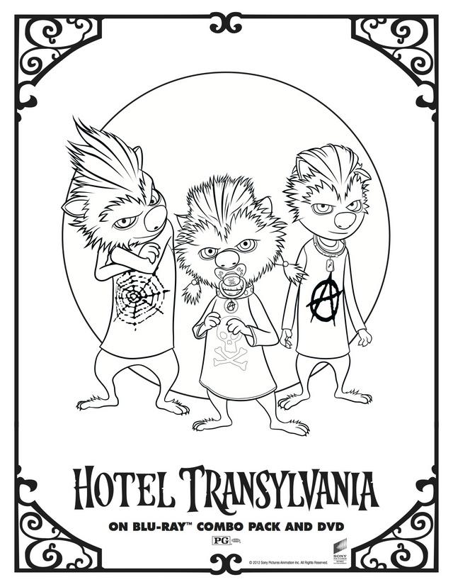 Hotel Transylvania Blob Coloring Page
