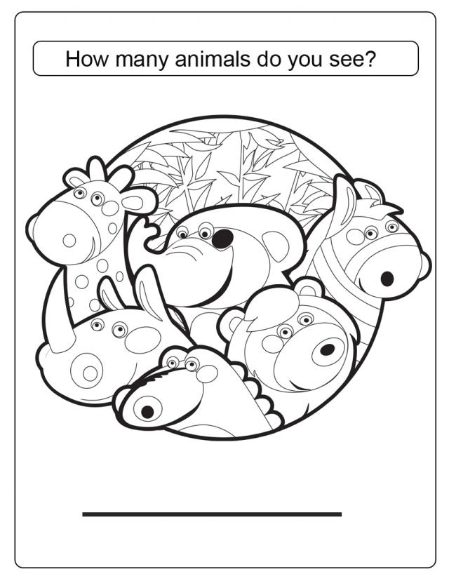 Many Animals Coloring Pages : Free coloring pages of counting sea animals
