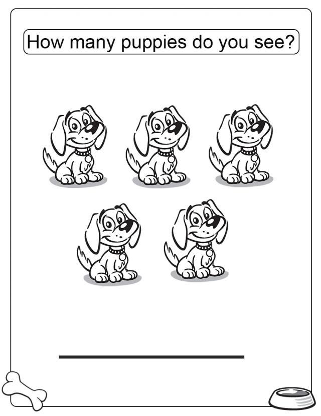 Free coloring page for memorial day - How Many Puppies Free Printable Coloring Pages