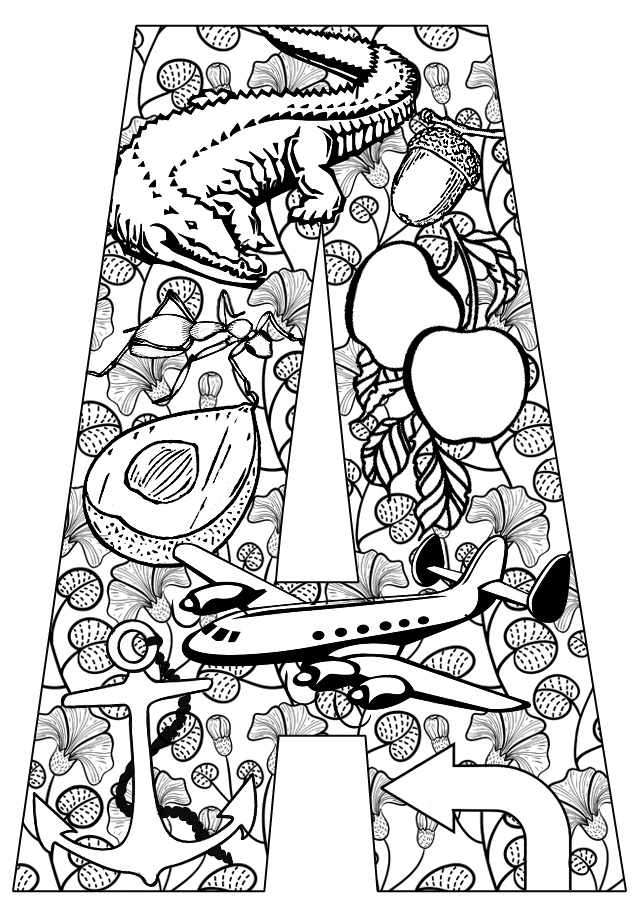 j coloring pages for older kids - photo #33