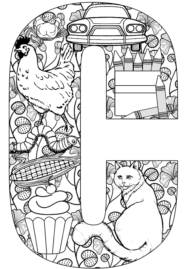Printable letters letters activities c for Coloring pages for the letter c