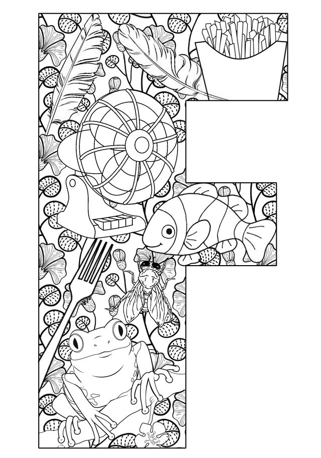 f coloring pages - photo #33