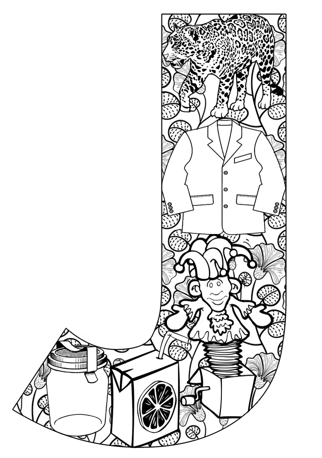 j coloring pages printable - photo #15