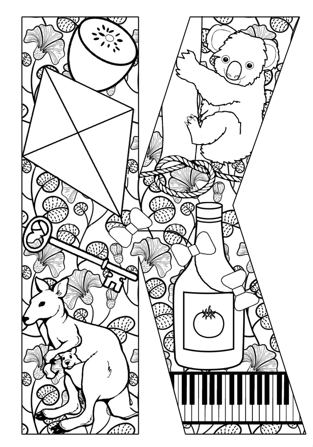 the letter k coloring pages - photo#19