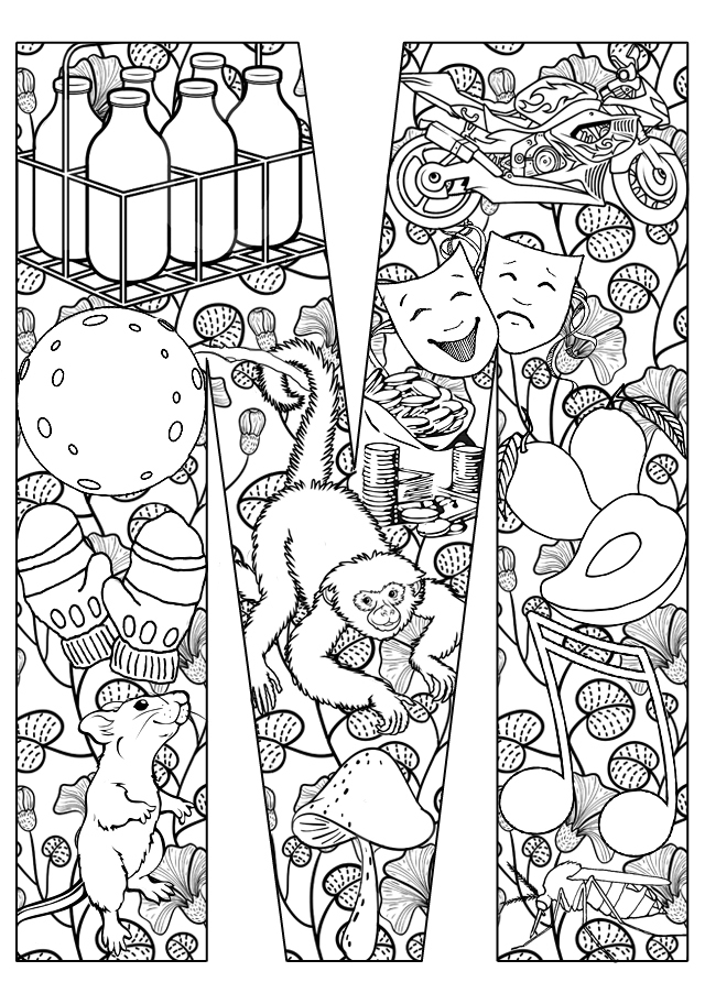 m and m coloring pages for kids - photo #42