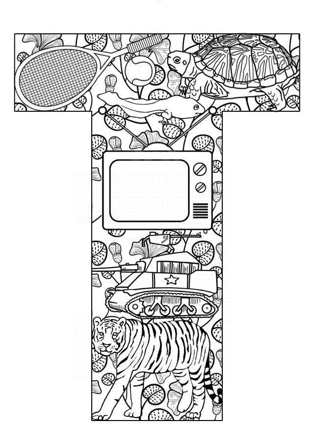 Free Coloring Pages Of Letter T Activities T Coloring Page
