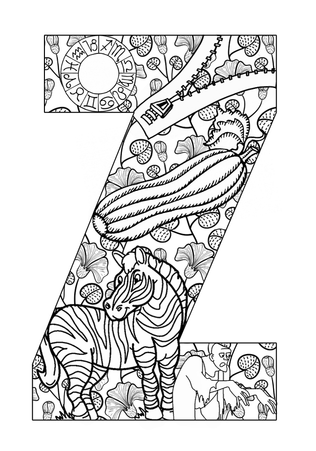 Printable Letters Letters Activities Z A To Z Coloring Pages