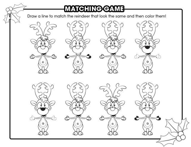 Home > Misc. Games & Activities > Reindeer matching game