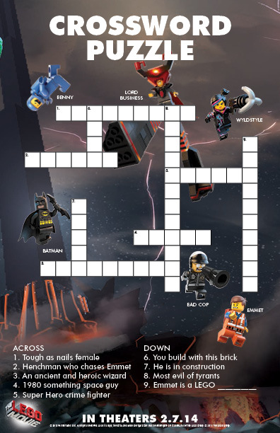 the lego r  movie crossword