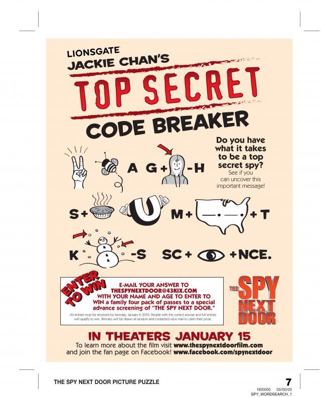 Printable Games Amp Activities The Spy Next Door Code