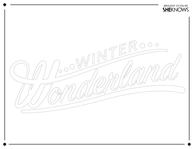 winter wonderland wall stencil white