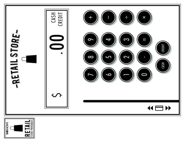 cash register coloring pages. Black Bedroom Furniture Sets. Home Design Ideas