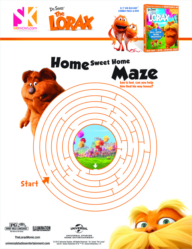Assorted maze activity sheets