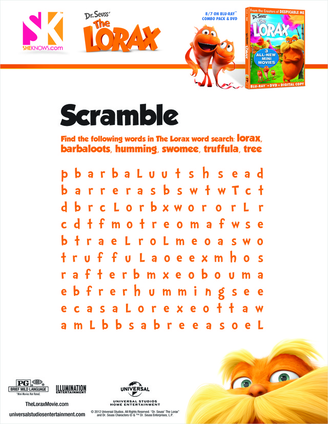 Persnickety image intended for dr seuss word search printable