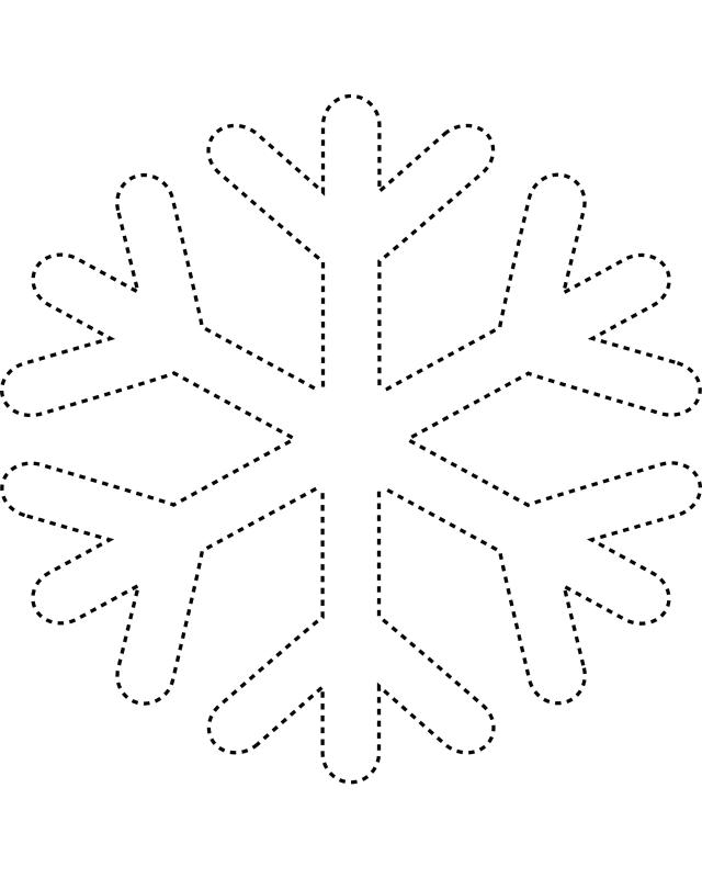 printable snowflake template