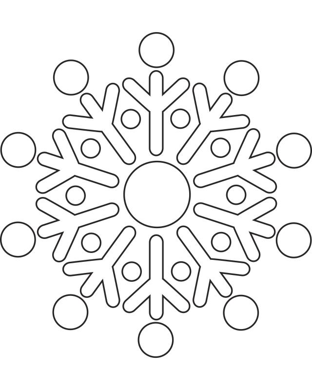 Printable snowflake pictures for Snowflake coloring pages printable