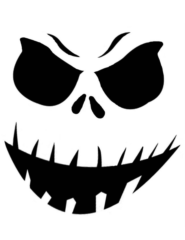 Scary Printable Pumpkin Carving Stencils