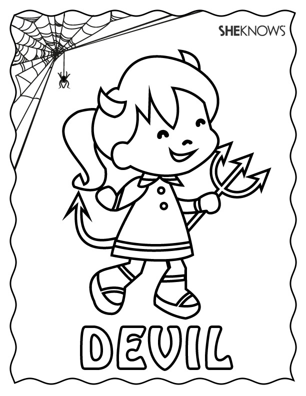 devil coloring pages - scary devil coloring pages sketch coloring page