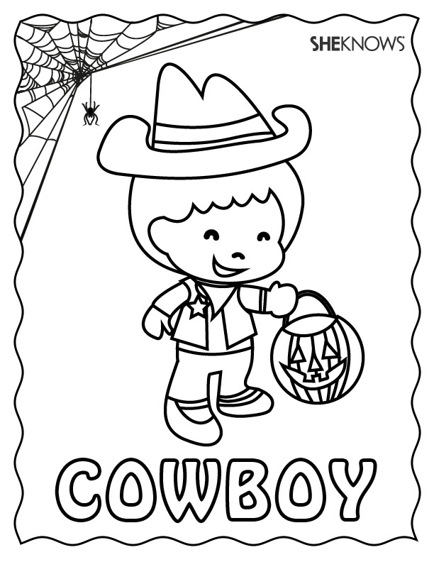 Cowboy Halloween coloring page Free Printable Coloring Pages