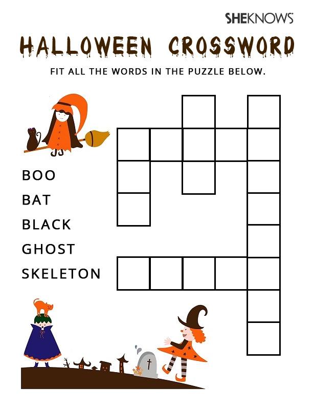 Effortless image in halloween wordsearch printable