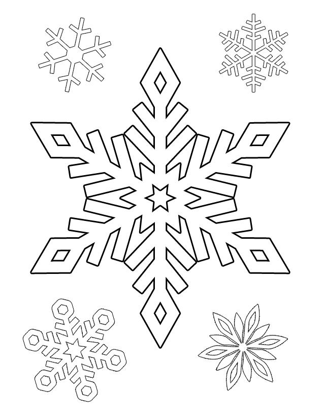 snowflake coloring pages for children - photo#29