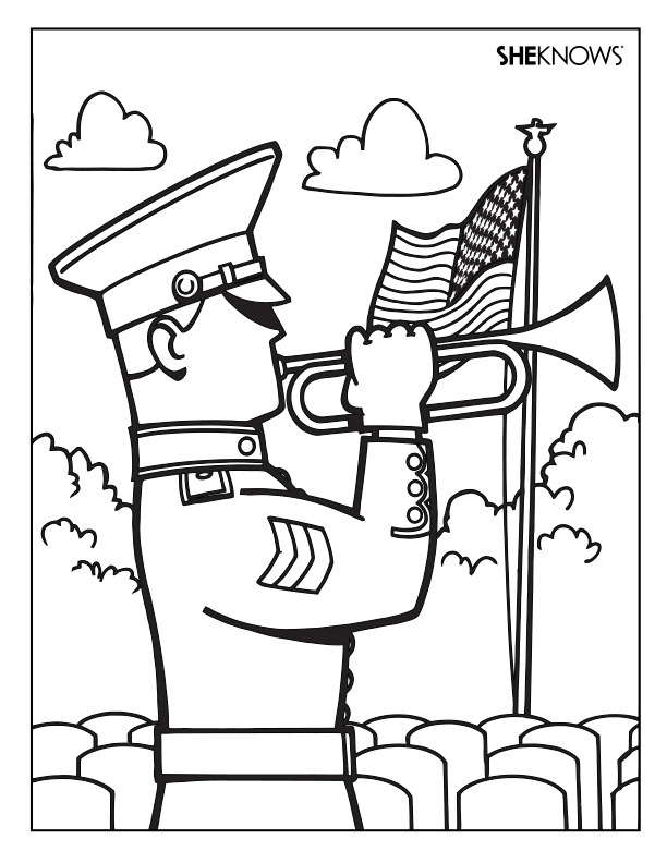Soldier coloring page Free Printable