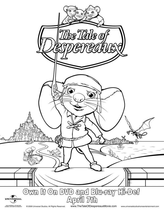 despereaux coloring pages - photo#7