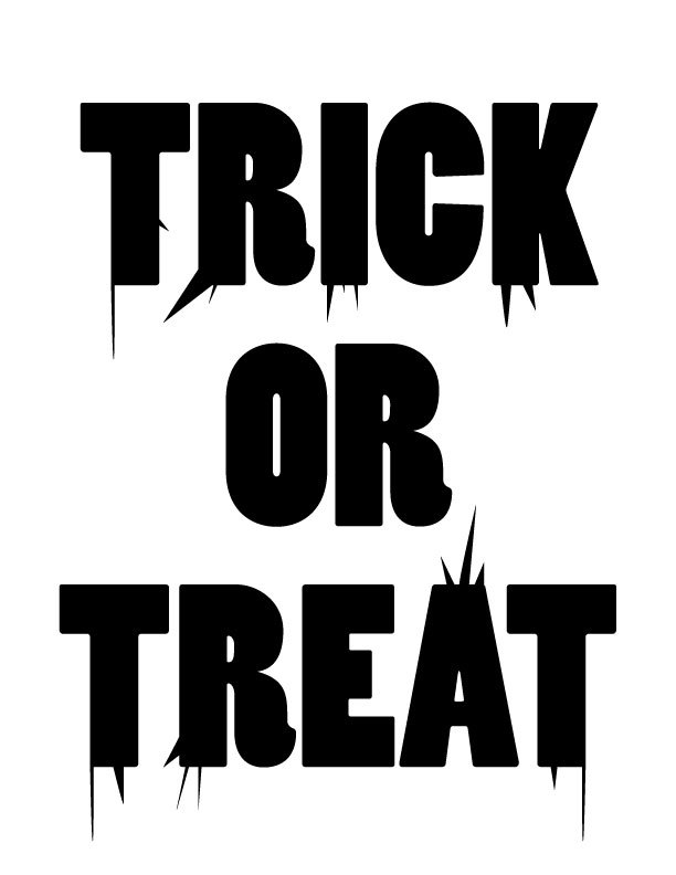 Trick or Treat Free Printable Coloring Pages