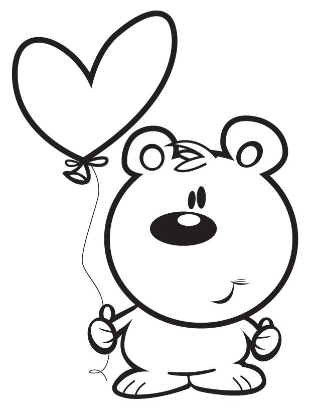 Bubble letters coloring happy valentines day coloring pages for Valentine cartoon coloring pages