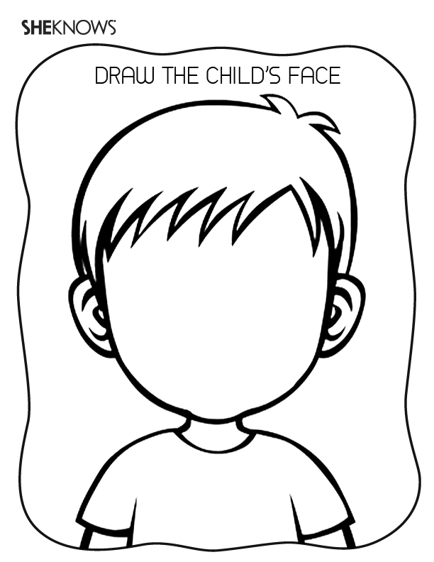 coloring pages childrens face - photo#10