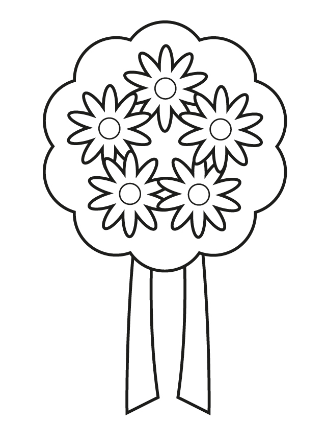 Home > Weddings > Wedding Bouquet 7 Wedding Bouquet Coloring Pages