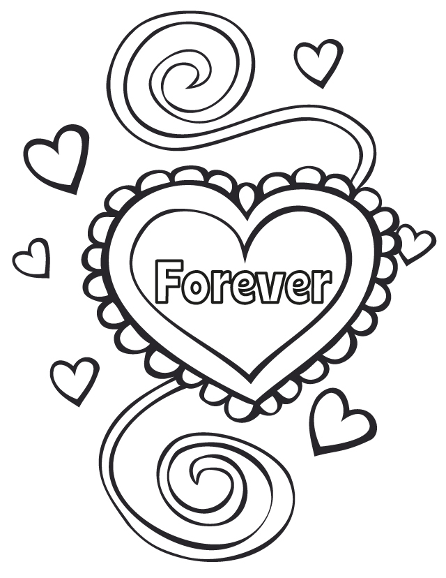 Wedding coloring pages wedding forever for Marriage coloring pages