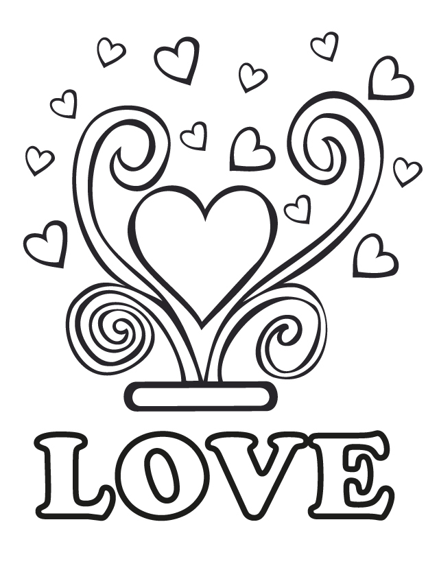 Wedding love birds coloring pages for Love coloring pages printable
